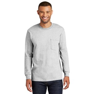 Port & Co. Long-Sleeve Pocket T-Shirt